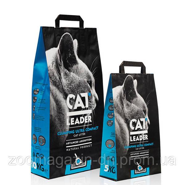 Кэт Лидер (CAT LEADER) ультра-комкующийся наполнитель в кошачий туалет , 5 кг.