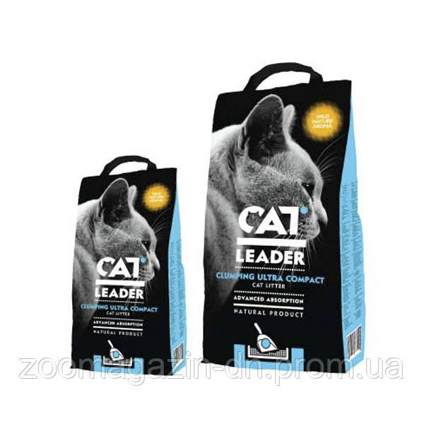 Кэт Лидер (CAT LEADER) с WILD NATURE ультра-комкующийся наполнитель в кошачий туалет , 5 кг.