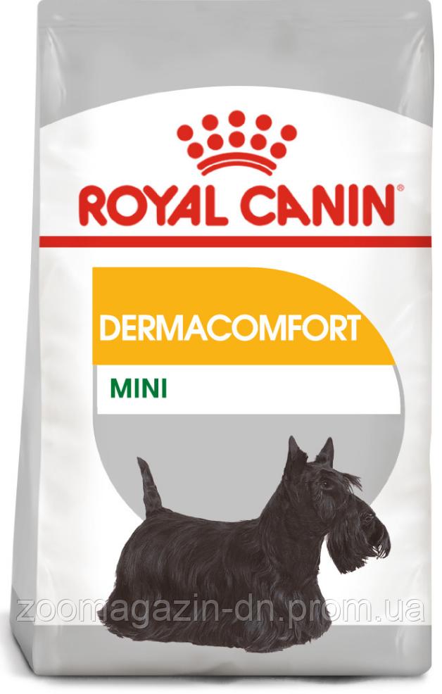 Royal Canin Mini Dermacomfort для собак мелких размеров с раздраженной и зудящей кожей, 1 кг