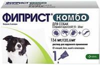 ФИПРИСТ КОМБО ОТ БЛОХ И КЛЕЩЕЙ капли на холку для собак от 10-20 кг (1 пипетка)