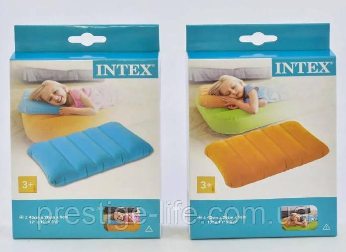 Надувна подушка Intex 68676 (43*28*9 см), 2 кольори