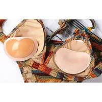 Вкладыши пуш ап Push up в бюстгальтер с силиконовой поверхностью вставки подушечки бежевые 405-34-1