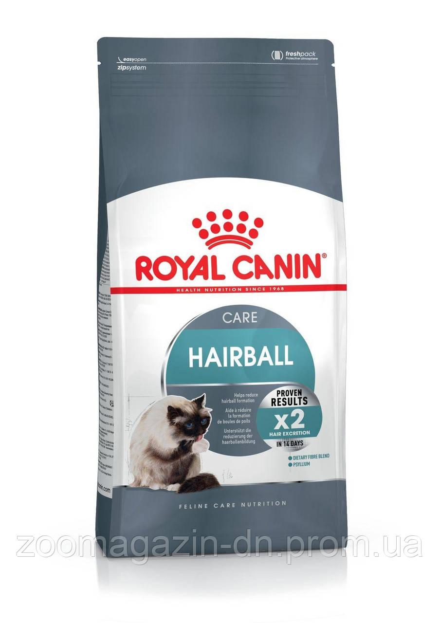 Royal Canin Hairball Care для взрослых кошек, выведение шерсти  2 кг