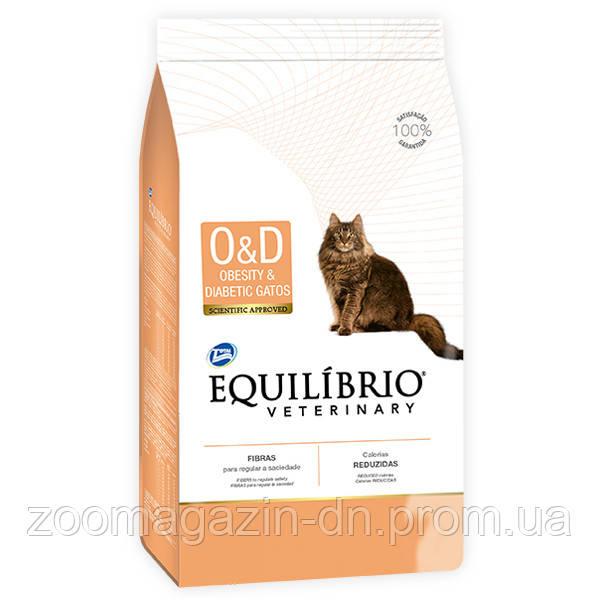 Equilibrio Veterinary Cat ОЖИРЕНИЕ ДИАБЕТ лечебный корм для котов, 2 кг