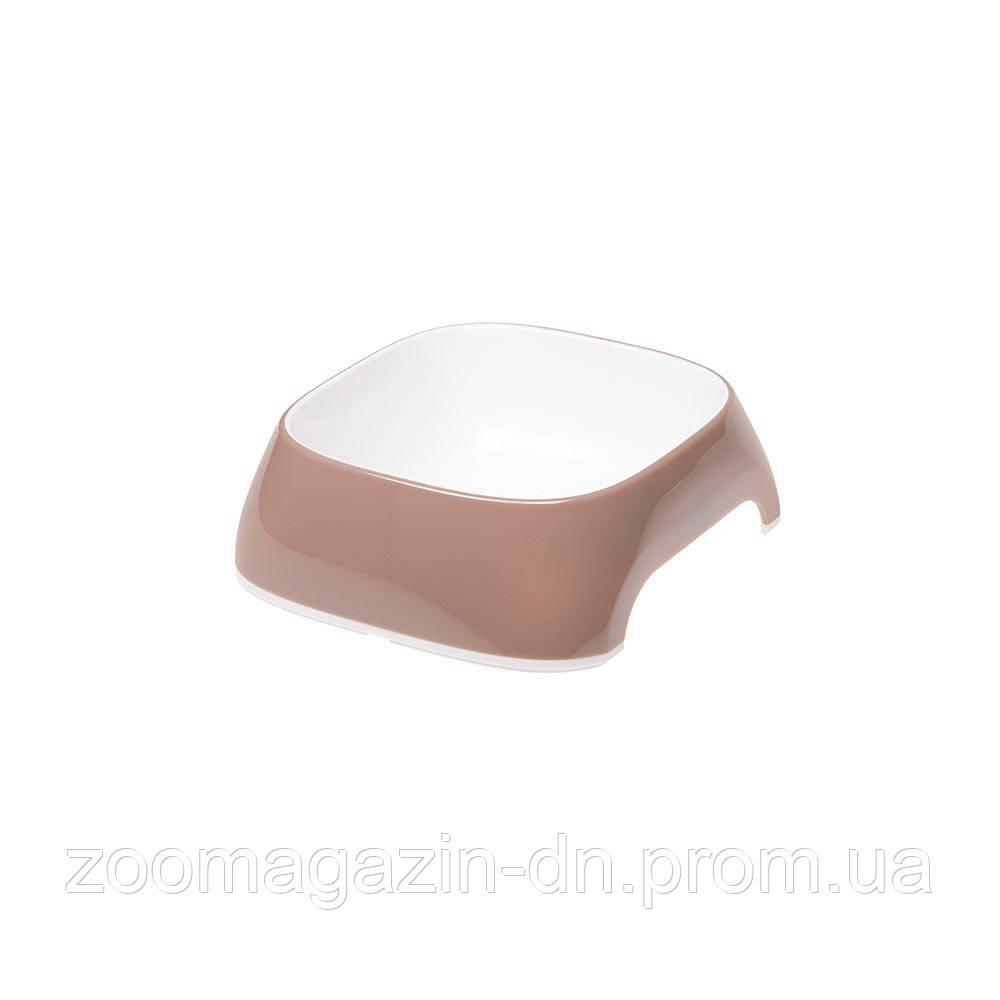 Ferplast  GLAM XS DOVE GREY BOWL   Пластиковая миска для собак и кошек. кофейная, 13 x 12 x h 3,5 cm - 0,2 L
