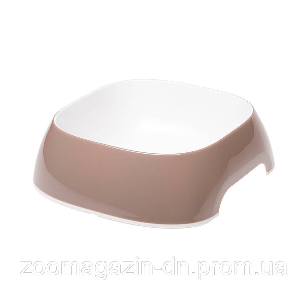 Ferplast  GLAM SMALL  DOVE GREY BOWL   Пластиковая миска для собак и кошек. кофейная, 15 x 13,5 x h 5 cm - 0,4 L