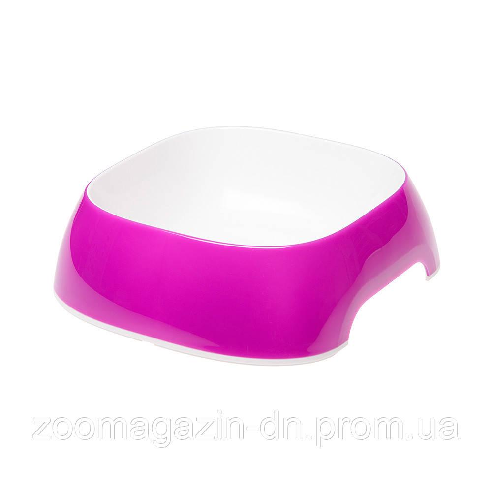 Ferplast GLAM MEDIUM VIOLET BOWL   Пластиковая миска для собак и кошек. фиолетовая,  20 x 18,5 x h 6 cm - 0,75 L