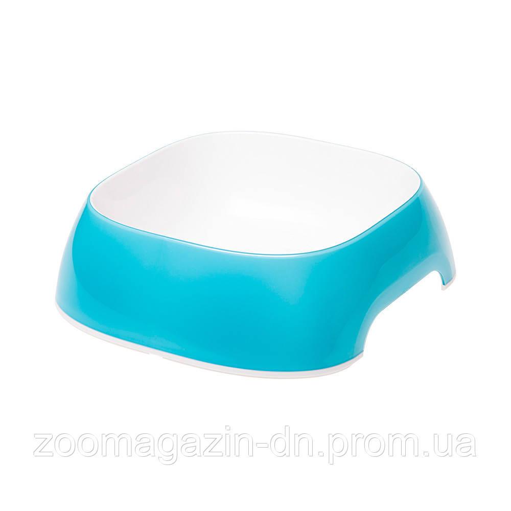 Ferplast GLAM LARGE  LIGHT BLUE BOWL   Пластиковая миска для собак и кошек. голубая, 23.5 x 22,5 x h 7 cm - 1.2 L
