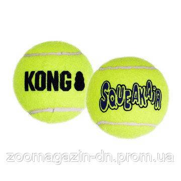 Игрушка KONG воздушная пищалка теннисный мячик XS, 3 шт, 4,1 см