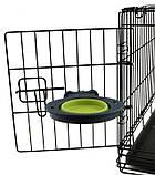 Dexas Collapsible Kennel Bowl Миска складная с креплением для клетки для собак и кошек МАЛАЯ 240мл (1 мерный, фото 2