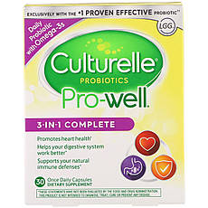 Culturelle, Probiotics, Pro-Добре, 3-In-1 Complete, 30 Once Daily Capsules