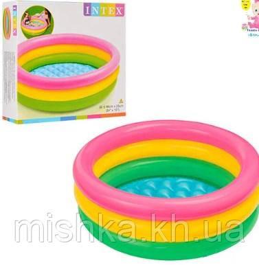 Детский надувной бассейн Радуга, 86-25 см