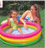 Детский надувной бассейн Радуга, 86-25 см, фото 3