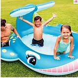 """Детский надувной бассейн """" Кит"""",размером 201-196-91см, фото 4"""