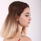 Вінок кришталева Тіара прозора Діадема гілка ручна робота прикраса для волосся, фото 2