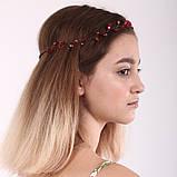 Вінок кришталева Тіара прозора Діадема гілка ручна робота прикраса для волосся, фото 6