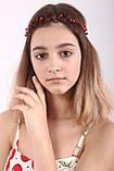 Вінок кришталева Тіара прозора Діадема гілка ручна робота прикраса для волосся, фото 5