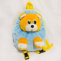 Рюкзак детский Zolushka Медведь 28см голубожелтый (2621)