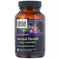 Gaia Herbs, Adrenal Health, ежедневная поддержка, 120 растительных капсул Phyto-Caps
