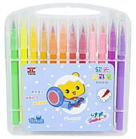 Набор кисть-фломастеры 24шт, пластиковый чемодан с ручкой, 81170TC-24