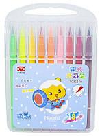 Набор кисть-фломастеры 18шт, пластиковый чемодан с ручкой, 81170TC-18