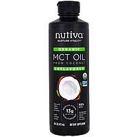 Nutiva, Органическое масло СЦТ из кокоса, без вкуса, 473 мл (16 жидких унций)