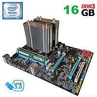 Материнская плата X79-2.4F / socket LGA 2011 с процессором  Intel Xeon E5-2689 / 8 (16) ядра по 2.6-3.6GHz / 20Mb cache и 16GB DDR3 ECC ОЗУ