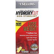 Hydroxycut, Pro Clinical Hydroxycut, добавка для схуднення без стимуляторів, 72 швидкорозчинні капсули,
