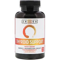 Zhou Nutrition, Підтримка щитовидної залози, містить йод, 60 капсул вегетаріанських