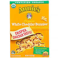 Annie's Homegrown, Organic White Cheddar Bunnies, Baked Snack Crackers, 7.5 oz (213 g), официальный сайт