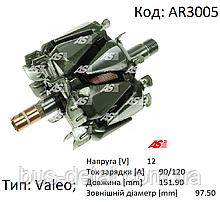 Ротор, корь генератора Valeo, L=152 мм, D=97 мм, 137580, 2590941, 593147, 593325, 593664, AR3005 (AS-PL)