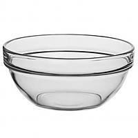 Скляний салатник для сметани з бортиком Сатурн 120 мм (9052), фото 2