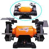 Промислове точило 200 мм WorkMan CH200 з системою пиловидалення, фото 2