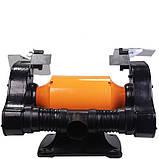 Промислове точило 200 мм WorkMan CH200 з системою пиловидалення, фото 4