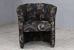 Мягкое кресло для ресторана, бара, отеля, кафе SVL Бонус, жаккард темно-баклажановый растительный узор 0447-10