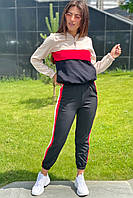 Трендовый спортивный костюм худи и джогеры  YARE - бежевый цвет, 36р (есть размеры), фото 1