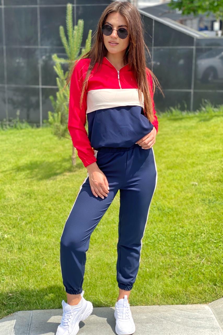 Трендовий спортивний костюм худі і джогеры YARE - червоний колір, 42р (є розміри)