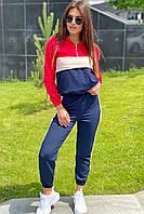 Трендовий спортивний костюм худі і джогеры YARE - червоний колір, 42р (є розміри), фото 1