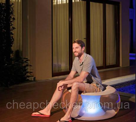 Надувное Кресло Bestway С LED Подсветкой Размер 82 х 82 х 41 См
