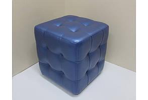 Пуф для коридора, прихожей или гостинной SVL Энтони, экокожа, синий 0146-02