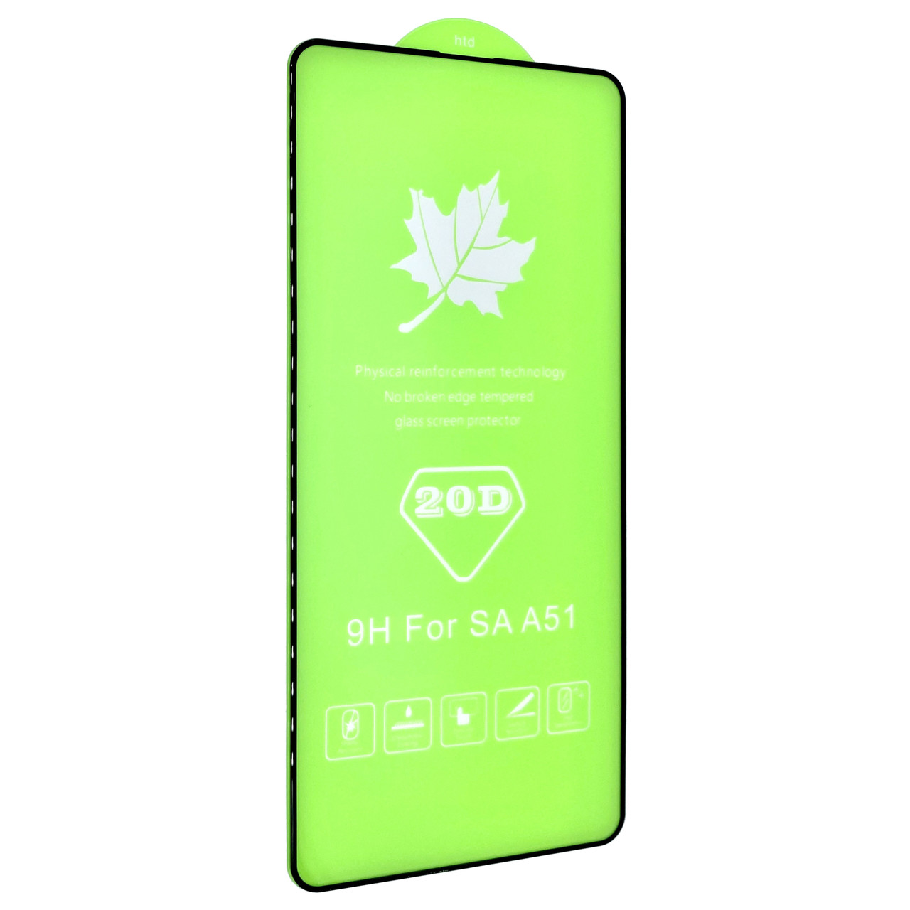Защитное стекло DK Full Glue 20D для Samsung A51 / A515 (2020) (black)