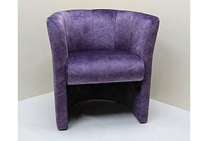 Кресло велюровое для гостинной, спальни или прихожей SVL Бонус, фиолетовое 0447-02