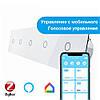 Сенсорный Wi-Fi выключатель Livolo ZigBee 5 каналов (1-1-1-1-1) белый стекло (VL-C705Z-11)