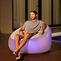 Надувное Кресло Bestway С LED Подсветкой Размер 102 х 97 х 71 См
