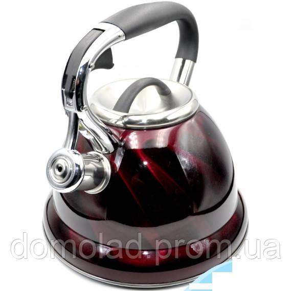 Чайник На Плиту Газову Зі Свистком VICALINA VL-0034 Чайник Зі Свистком З Капсульної Дном Кольори В Асортименті