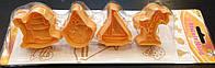 Плунжер Мороженое, Пальма, Ведерко с лопаткой, Кораблик 4шт (кнопка)
