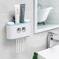 Дозатор зубной пасты держатель зубных щеток для ванной Ecoco семейный диспенсер (SUN3971b)