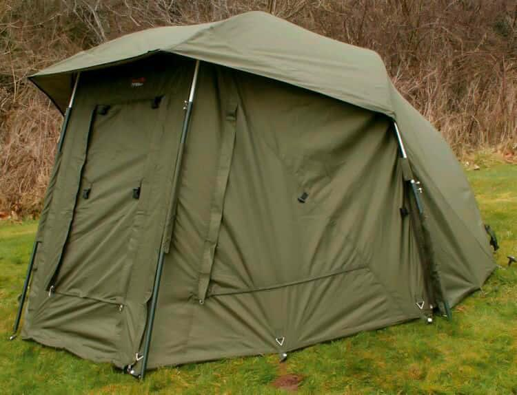 Палатка-зонт туристическая Elko 60IN OVAL BROLLY+ZIP PANEL для рыбалки природы оливково-зеленый