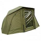 Палатка-зонт туристическая Elko 60IN OVAL BROLLY+ZIP PANEL для рыбалки природы оливково-зеленый, фото 2