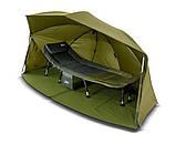 Палатка-зонт туристическая Elko 60IN OVAL BROLLY+ZIP PANEL для рыбалки природы оливково-зеленый, фото 4